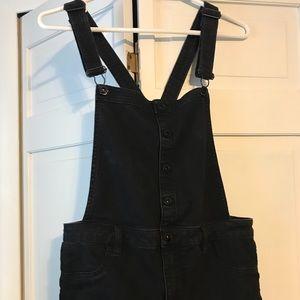 Full Length Black Overalls